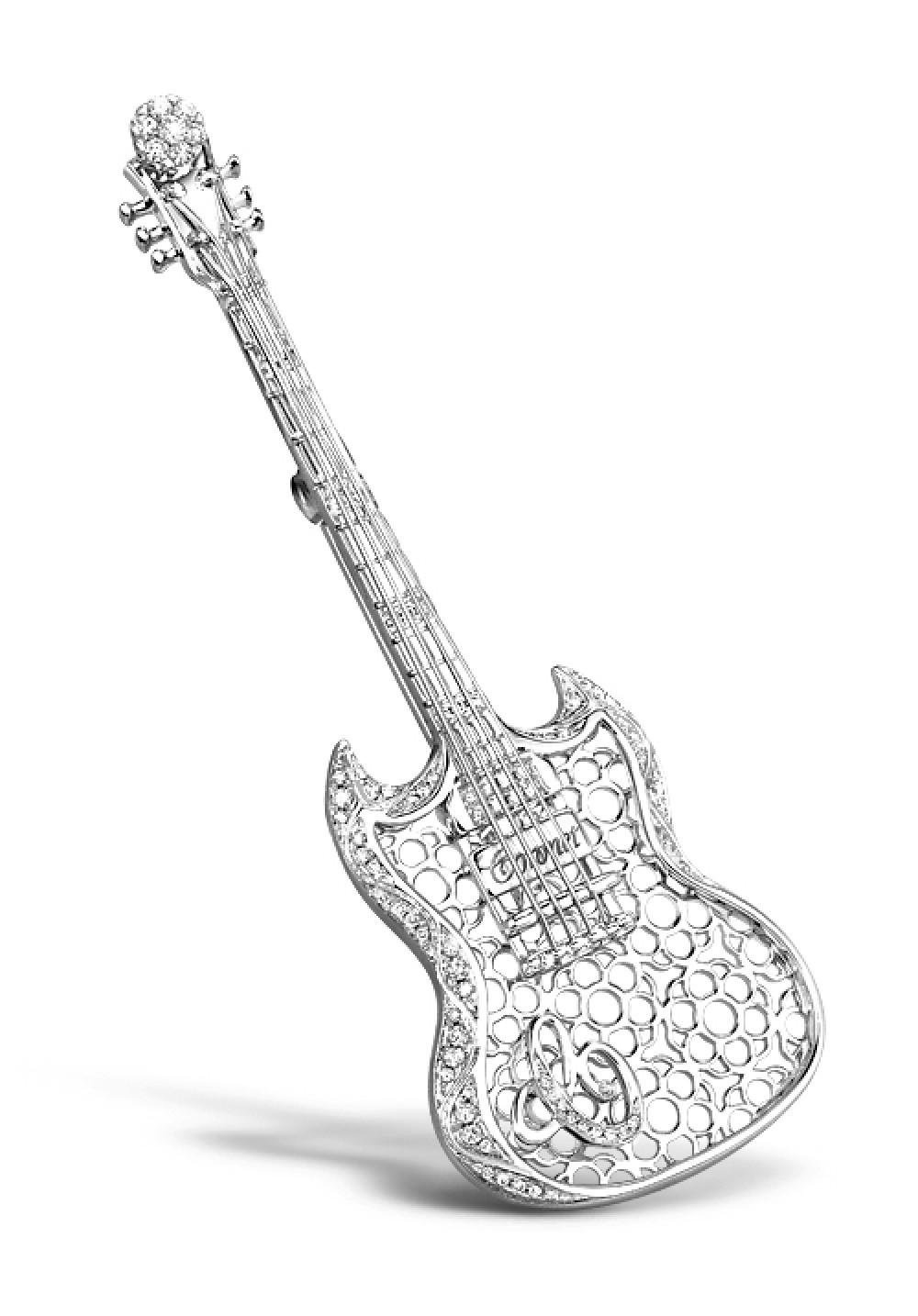 Most elegant refine jewelry diamond brooch coronet store for Guitar domont