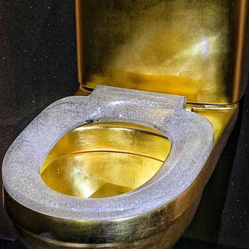 Most diamonds set on a toilet