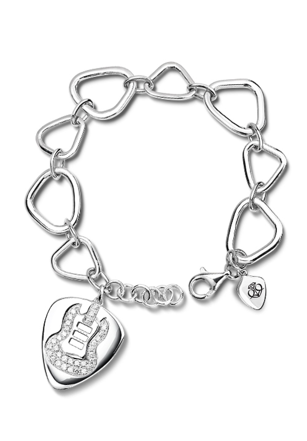 store hearts bracelet online silver fuck you chrome