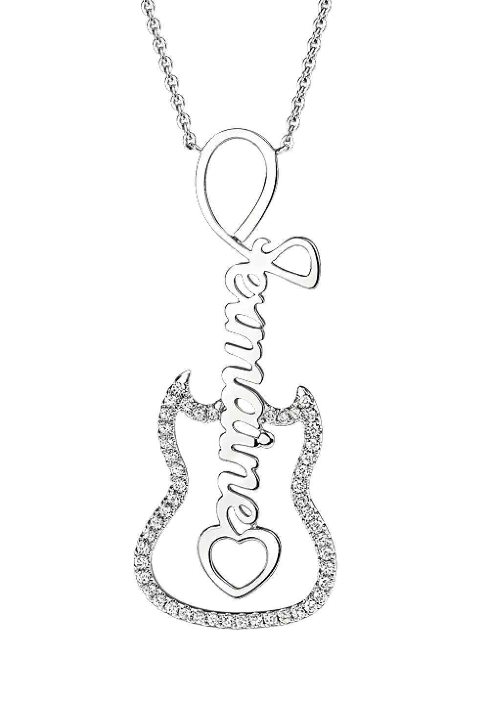 necklace product shop guitar silverworks