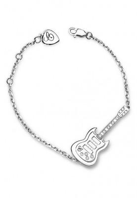Mini Guitar Silver Bracelet